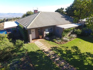 Home with magnificent views high up on the Helderberg mountain