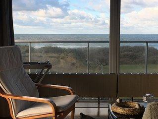 Vue époustouflante sur les dunes et la mer