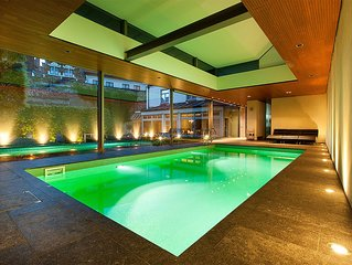 private garden and indoor pool in heart of Bruges