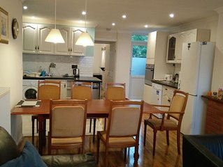 Riverside Home, central, quiet, private garden and free parking