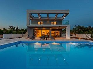 Modern Villa Quadra, on the Island of Krk