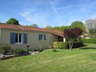 Modern property nr St Jean d'Angely. Secure gardens ideal for children and pets