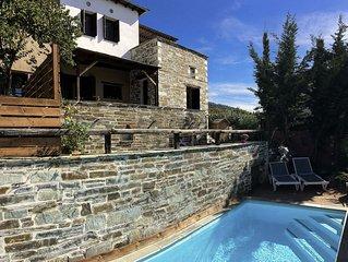 PELION HOMES | VILLA IRIS. A rustic, chic villa with pool and great sea views!