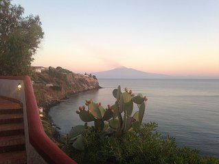 Sicily - steps from the beach, Etna stunning view