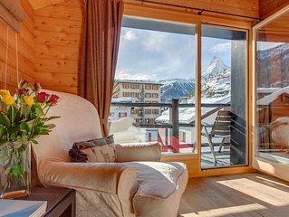 oldhousezermatt Unique wooden chalet apartment, Matterhorn view, Central