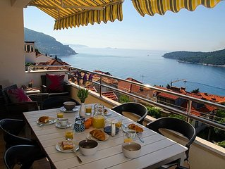 Amazing views over the old town and Adriatic Sea! Outdoor Hot Tub