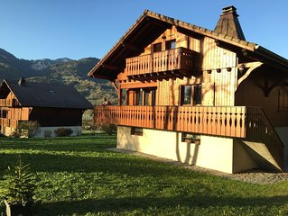 Chalet Cimbria - Grand Massif ski area - stunning views, free wifi, hot tub