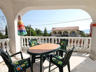 One bedroom apartment with terrace and sea view Pinezici (Krk) (A-5319-a)