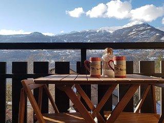 Vue magnifique ! Vallouise,Parc des Ecrins,Puy st Vincent,Pelvoux Hautes Alpes