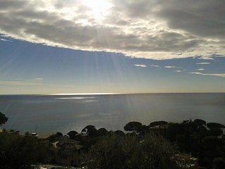 Bogliasco: Appartement en villa, vue sur la mer entoure de nature