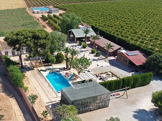 Hacienda with Farm near Beach - celebraciones. All Rooms/ Air cond.