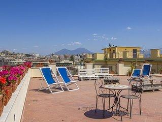 La stanza Terra a Mergellina in elegante appartamento  con vista mare