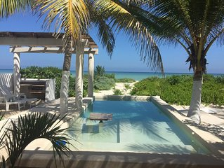 Holiday Home on the Shore of the Sea in Yucatan (Yucatecan Riviera)