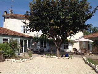 17th Century Charente Farmhouse (whole house and pool)