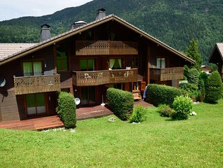 Cosy 3p RDJ dans chalet vue Chamonix Mont Blanc