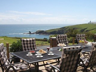 Set on a cliff 60 yards from the sea with uninterrupted views, wonderful for a b