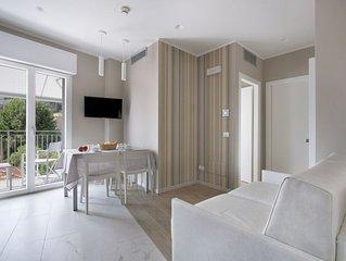 RESIDENCE DOLCEMARE – Appartamento Comfort 3, camera da letto balcone vista mare