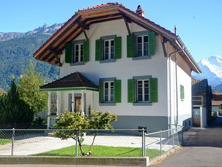 Jungfrau Family Holiday Home, 5 bedrooms, sleeps 12, garden, BBQ, and parking