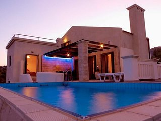 Private spacious air conditioned Villa with pool and sea views in Lindos Area.