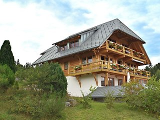 Comfortable apartment with large roof terrace in Dachsberg-Urberg