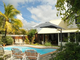 Elegant Villa with Direct Access to a Beautiful Sandy Beach and Blue Lagoon