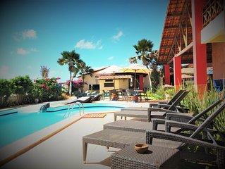 Appartamento vicino alla Grotta Mae D´Agua nella spiaggia di Praia Das Fontes