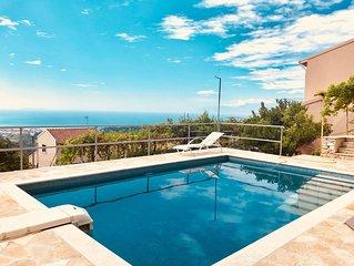 Villa tout confort sur les hauteurs, vue sublime !