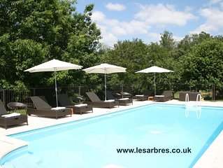 Stylish gites in Perigord Limousin Nature Park with huge garden & heated pool