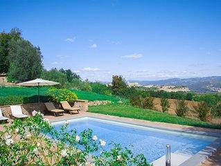 Lussuosa Villa per 8 persone con piscina privata e vista panoramica