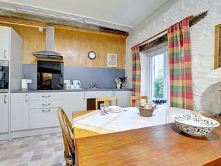 A rustic old stone cottage, simply furnished but with modern conveniences, The B
