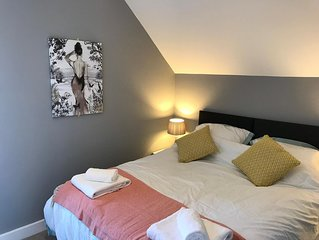 Luxury Apartment - Less than 1 mile to the city with free Wifi & parking!