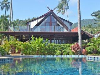 Banyan Villa 3 - 4 Bedroom - stunning sea views, 20 metres to Bang Por beach.