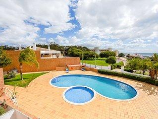 Sea views, 500 metres to Dona Ana beach,  Air con, W-fi, swimming pool,  garage