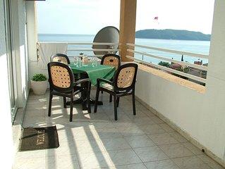Panoramic view apartment  in Rafailovici. 200 m from sandy beaches.