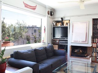 Your home in Athens. A great apt with large balcony and amazing views!