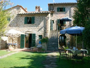 Lovely apartment for 6 guests with pool, WIFI, TV and parking, close to Cortona