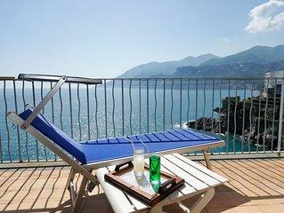 Bellissima casa in Maiori con vista mare e discesa a mare a soli 5km da Amalfi