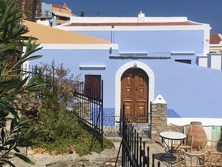 traditionnal symi house renovated with fantastic views.
