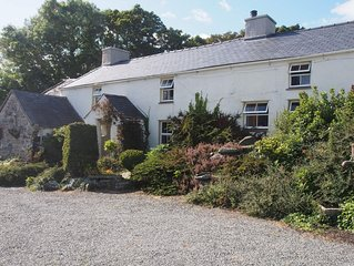 Nestling in a quiet corner of Anglesey - beautiful traditional Welsh cottage.