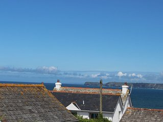 Coast View cottage. Sea views.  Parking.  Dogs welcome