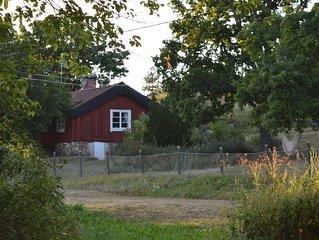 Charmigt hus på unik gammal gård på skärgårdsö, fiske och bad, husdjur tillåtna