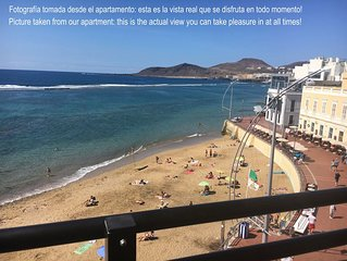 In the heart of Las Canteras beach with breath taking views