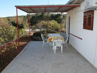 Three bedroom apartment with terrace and sea view Povlja (Brac) (A-711-a)