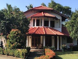 Near Bentota beach, 8 person luxury rental villa, private pool, 4 bedrooms