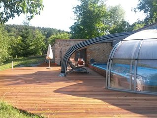 Luxury with swimming pool and sauna in beautiful nature of Bohemian paradise