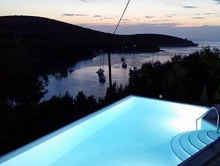 A1 Apartment of villa Sonia & Teo, Hvar, Croatia with heated, infinity pool