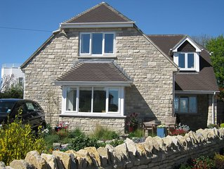 Yildiz - beautiful detached house in Swanage with stunning sea and hill views.