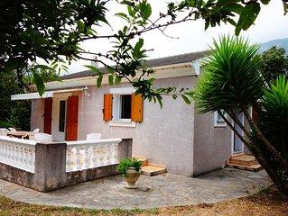 Villa indépendante dans un petit hameau du Cap Corse pour 2/5 personnes