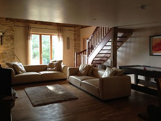 Beautifully Restored Farmhouse With Stunning Pool and HotTub. A great games room