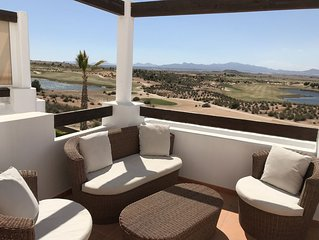 Luxury Penthouse Golf Apartment with stunning views Murcia Airport 25 Minutes